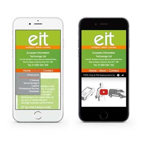 EuroIT mobile friendly website